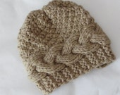 Baby winter hat ,Knit Cable Girl Hat, Photo Prop Hat, Newborn Hat, Boy Hat, Girl Knit Hat, Knit Baby Boy Hat, Baby Hats, Photo Prop hat