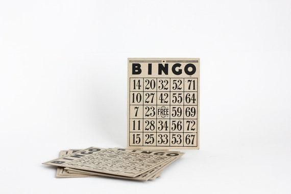 Vintage Bingo Cards Set 10