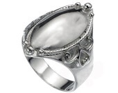 Oval signet women 925 sterling silver ring, signet personalized name engraving ring, Custom image engraving on request , silver ring