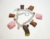 Chocolate Bracelet.  Polymer clay.