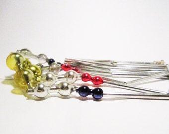 Antique mercury glass chain garland ornament
