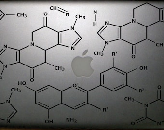 "Chemistry Notes Macbook 13"" Decal FREE SHIPPING"