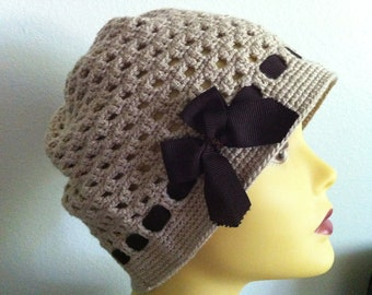 Women Hat, Crochet  Women Hat, Beige Women Hat, Women Accessories
