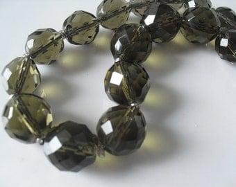 Vintage cut glass crystal necklace