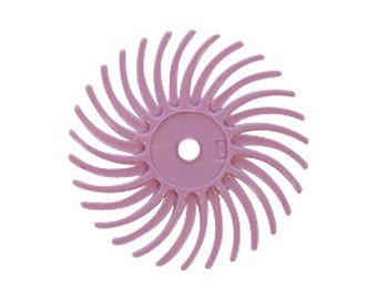 3M Radial Disc 3/4 Inch - Pumice Pink - 1 Dozen - Pre-Polishing - Polishing Finishing Tool - Jewelry Making Tool