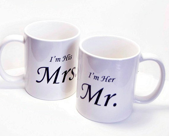 Husband and Wife Mugs, Bride and Groom Mugs, Mom and Dad mugs, Wedding gift for parents, Parent wedding gift, His and Her mugs, Engagement