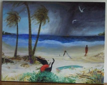SALE for limited time only - Original Oil Painting, Beach Scene