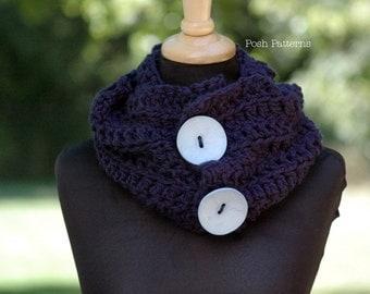Crochet PATTERN - Crochet Scarf Pattern - Cowl - Infinity Scarf Crochet Pattern - Crochet Patterns Women - Crochet Pattern Scarf - PDF 286