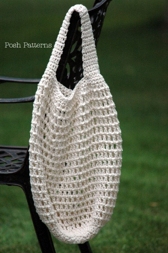 Crochet Market Bag Pattern Free : Crochet PATTERN - Crochet Market Bag Pattern - Crochet Patterns ...