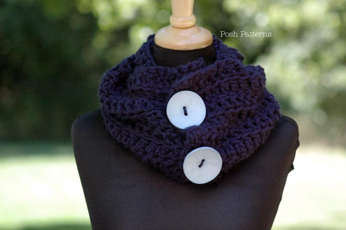 Crochet PATTERN Crochet Scarf Pattern Cowl Infinity