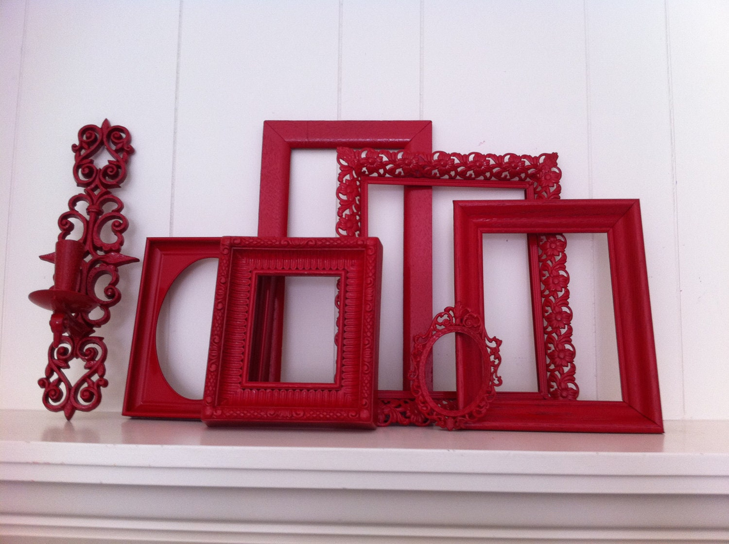 Red Frames Gallery Wall Frames Funky Vintage Frame By