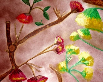 The Dark and the Light of It (Blossoms - Red and Yellow) Print