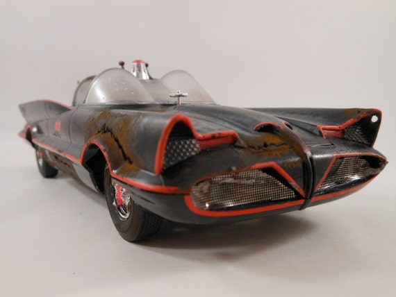 Batmobile in 1/24 scale model car from 1960s tv show Batman