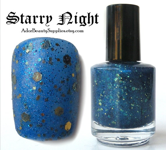 Starry Night Nail Polish 16ml Vegan - Glitter Polish