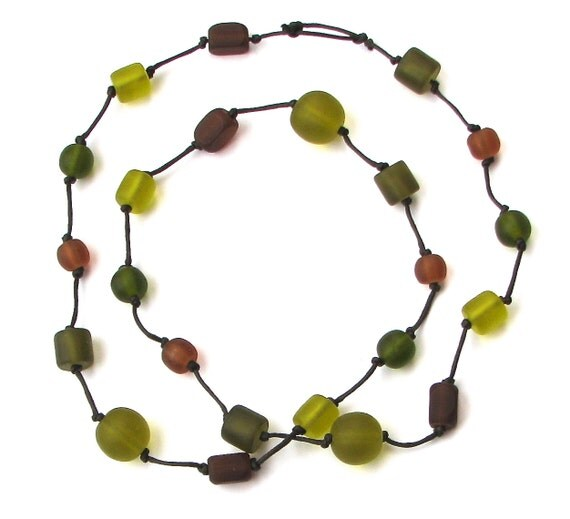 Breastfeeding Necklace/ Resin Nursing Necklace - Baby Safe Necklace - Brown, Green, Earthy Colors