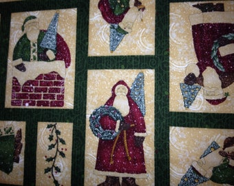 Elegant Santas by Debbie Mumm fabric panel - OOP