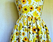 RESERVED for Julia. Yellow floral tea dress Size 10