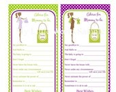 Mommy to be Advice Cards, baby advice cards, DIY Printable