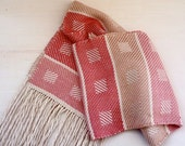 Handwoven Silk Scarf in Shades of Pink