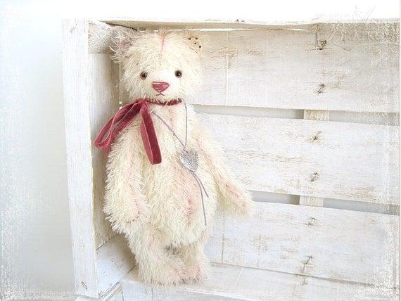 Artist Teddy Bear Flo OOAK 12 inch RESERVED until 20 December