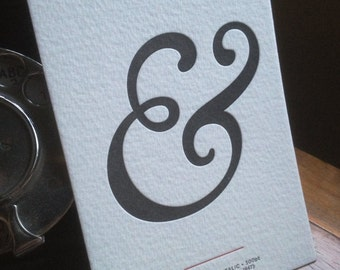 Letterpress Typography Postcard - Goudy Oldstyle Italic Ampersand.