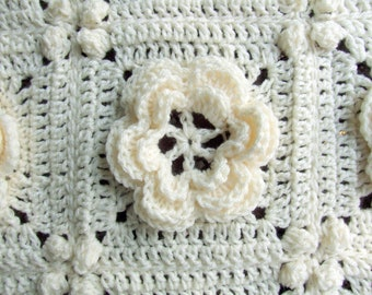 Crochet Pattern - Rosanna - Granny Square / Afghan Block - Irish Rose - Instant Download
