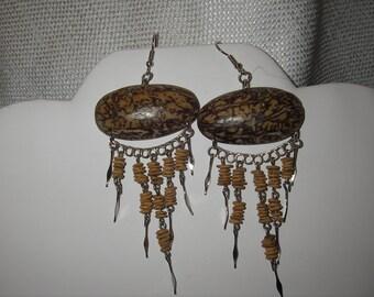 Exotic Amazon tree  seed earring.
