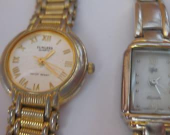 2 Lot Women Vintage Watches Tunlees/Vg 2 Quartz Japan Movt ON SALE