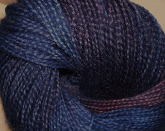 Hand Dyed Texas Mohair, navy, blue, plum, 261 yard