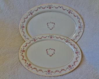 Vintage Syracuse China Platters in Arcadia Pattern