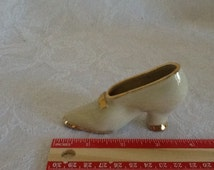 Porcelain Miniature Shoe,Vintage