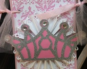 Pink Princess Happy Birthday Banner Party Decoration