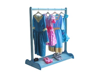 DRESS UP STAND for Kids / Double-Sided Shoe Rack / Sapphire Blue / Other Colors Available
