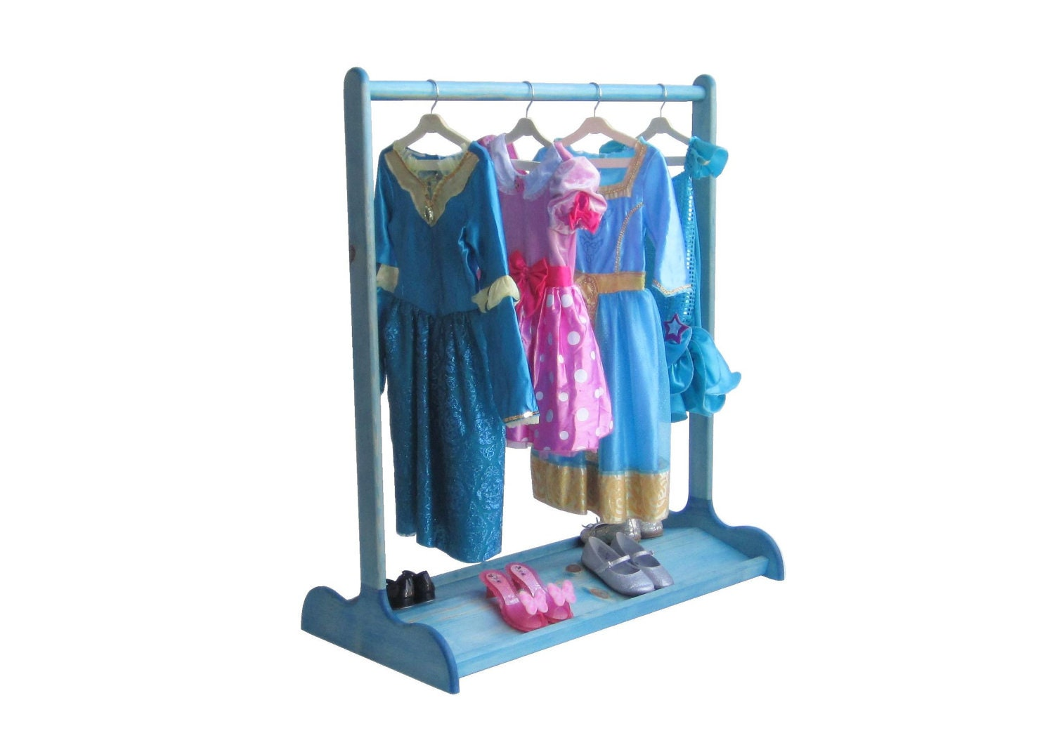 dress up stand for kids double sided shoe rack sapphire. Black Bedroom Furniture Sets. Home Design Ideas