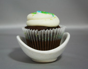 Cupcake classy serving dish and ice cream bowl made in Fiesta glaze for fun at any party