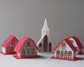 Vintage 60's Modern Alpine Village / Vintage Christmas Village