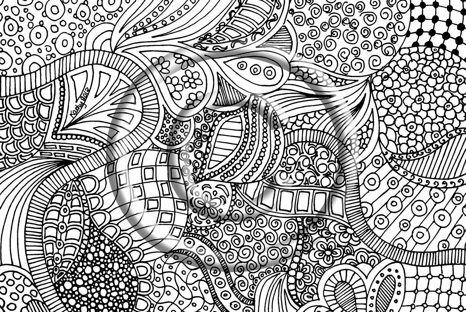 Zentangle Free Colouring Pages Zentangle Coloring Page