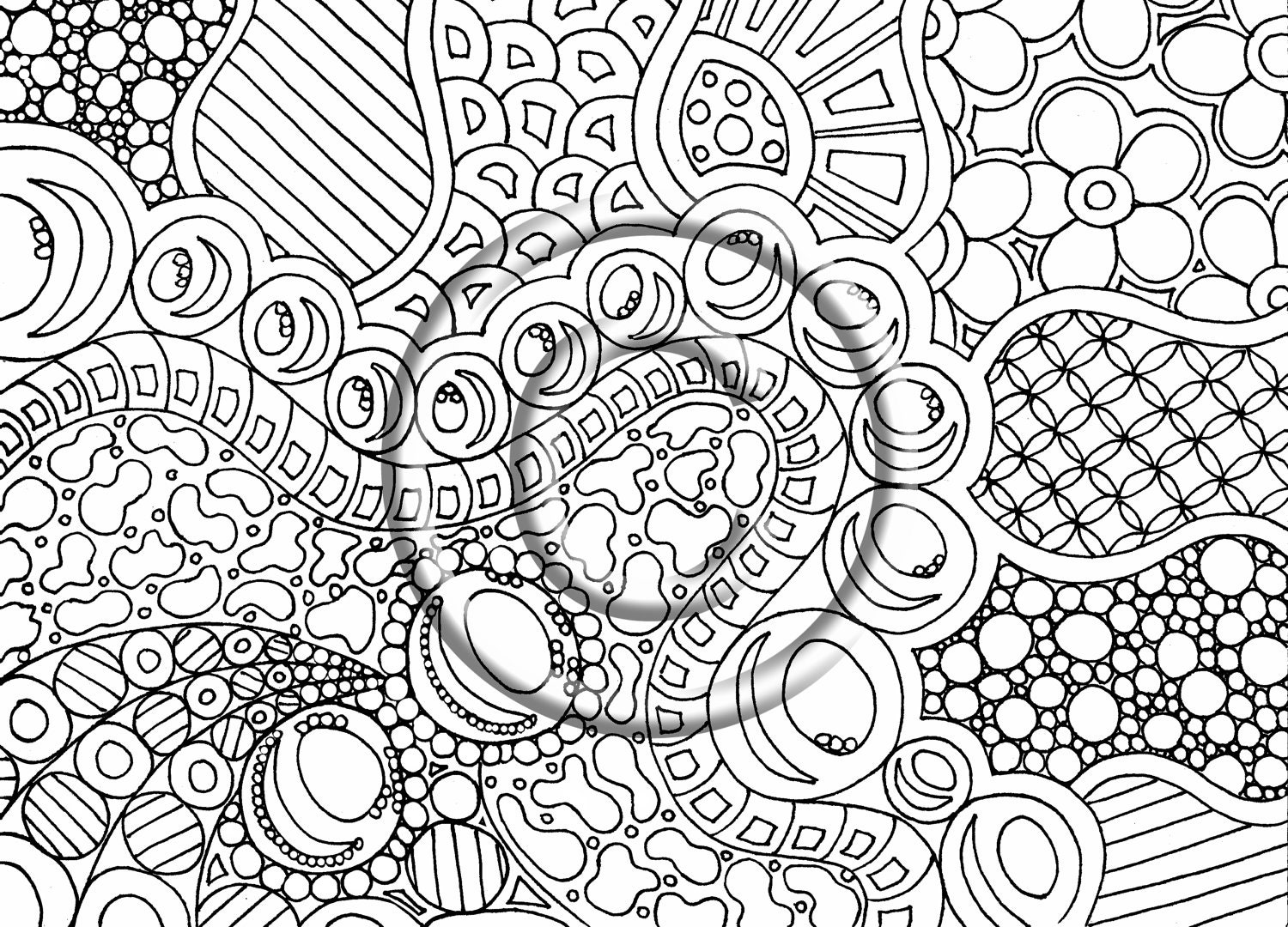 free trippy coloring pages - photo#28