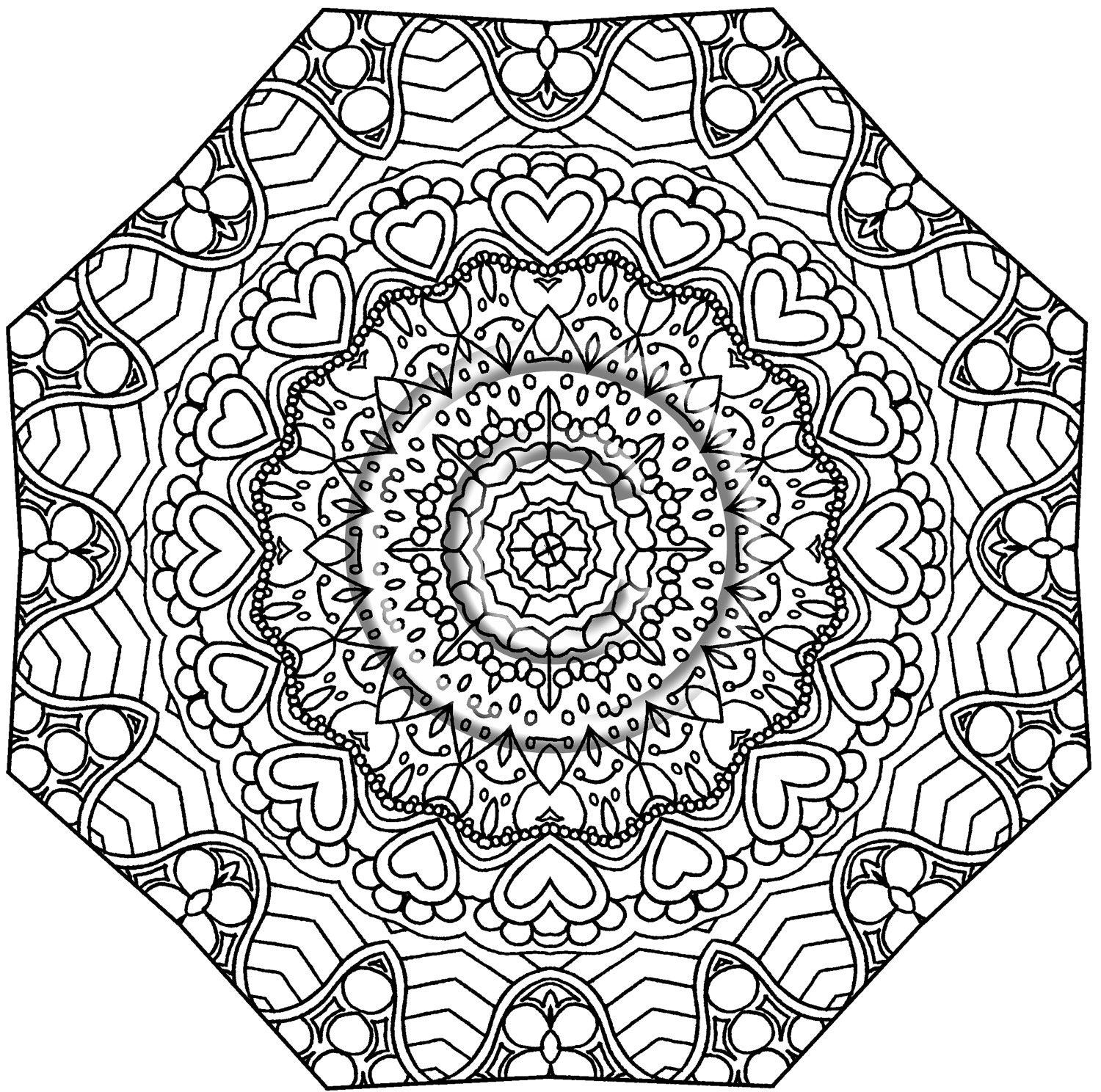 kaleidoscopes coloring pages - photo#18