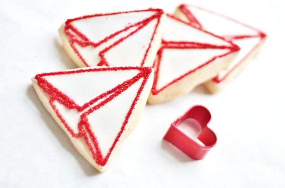 Love Notes - Paper Airplane Decorated Sugar Cookies