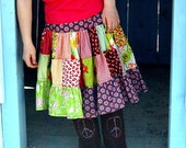 PENNY patchwork twirl skirt - pdf tutorial - ebook - 12M -8Y