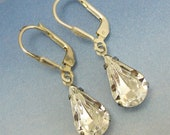 Crystal Drop Earrings Clear with Sterling Silver Earwire Bridal Wedding Bridesmaid Jewelry