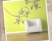Custom Color Trendy cursive branch inspired by nature vinyl wall decal sticker
