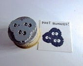 """Soot sprites - Totoro Inspired Soot Sprites Rubber Stamp Small 0.75"""" O013"""