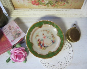 Lady Crinoline Plate for Dollhouse