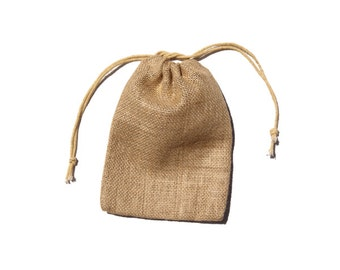 "5"" x 7"" Burlap Jute Bags Pouches for Wedding, Gift Packaging, Craft Projects"