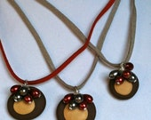 The Ohio State Buckeye and Pearls Necklace