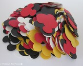 400 Mickey Mouse Shape Confettis, Mickey Colors, Party, Birthday