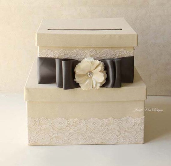 Wedding Card Boxes For Receptions: Items Similar To Wedding Card Box Money Holder Reception