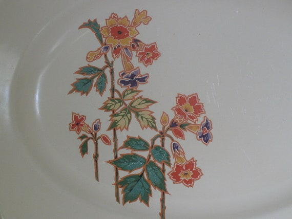 Vintage Homer Laughlin Columbine Luncheon Plates and Platter